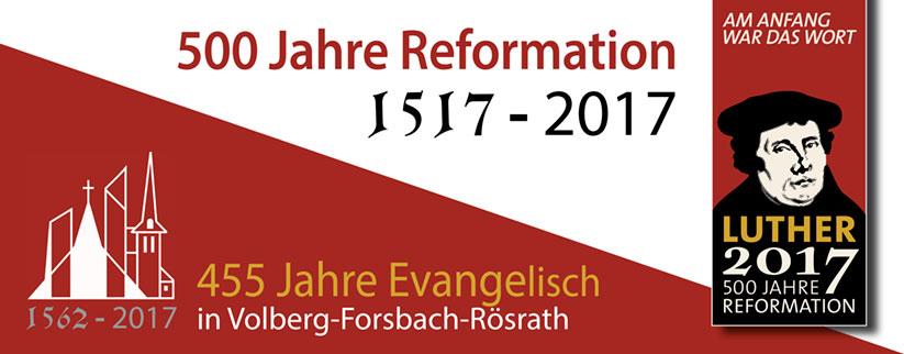 Banner zum Reformationsjubiläum